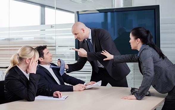 Firing employees after threats of violence
