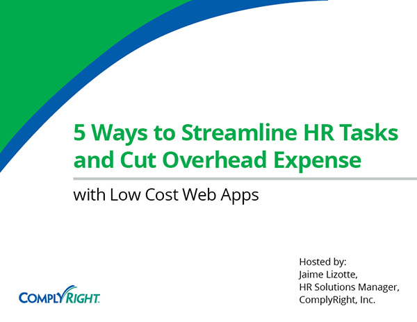 5 Ways to Streamline HR Tasks and Cut Overhead Expense with Low Cost Web Apps