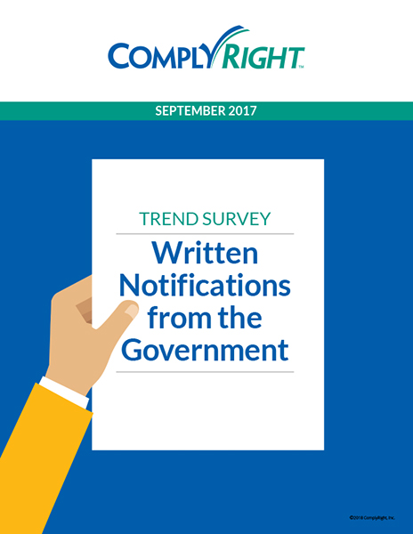 Trend Survey: Written Notifications from the Government