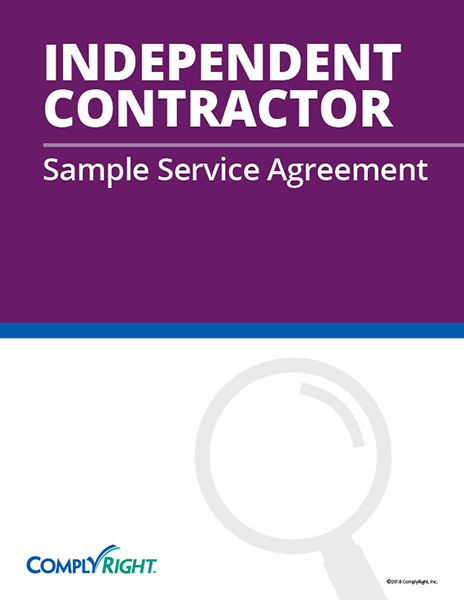 Independent Contractor Sample Service Agreement