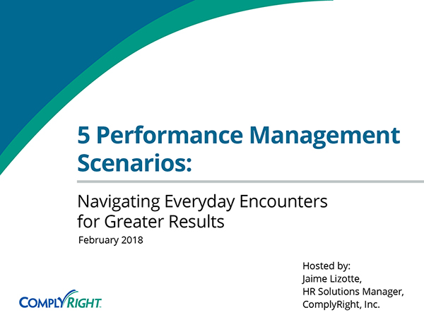 5 Performance Management Scenarios: Navigating Everyday Encounters for Greater Results