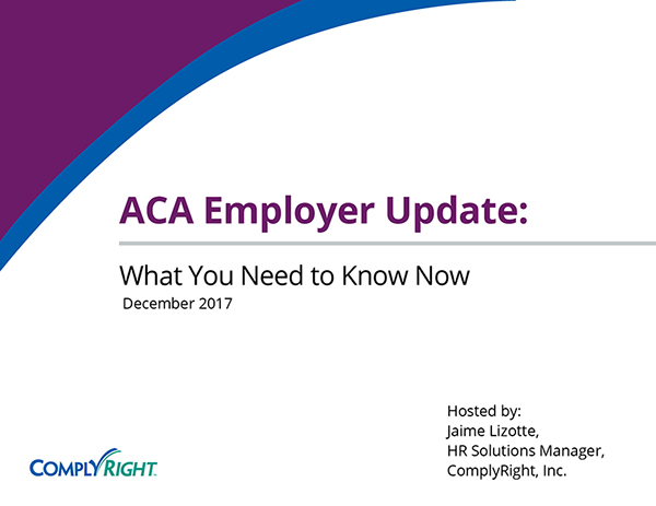 ACA Employer Update: What You Need to Know Now
