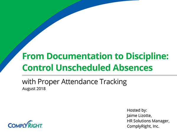 From Documentation to Discipline: Control Unscheduled Absences with Proper Attendance Tracking