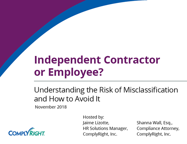 Independent Contractor or Employee? Understanding the Risk of Misclassification and How to Avoid It