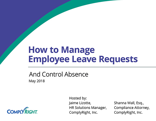 How to Manage Employee Leave Requests and Control Absence
