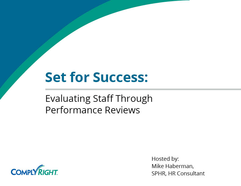 Set for Success: Evaluating Staff Through Performance Reviews